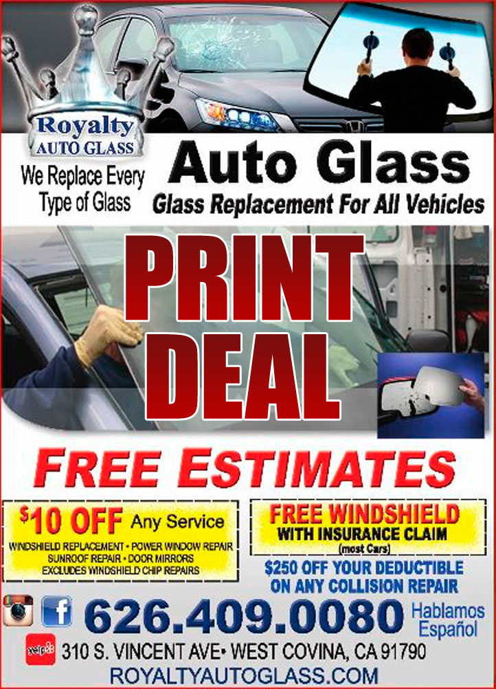 Auto Glass Replacement Coupons